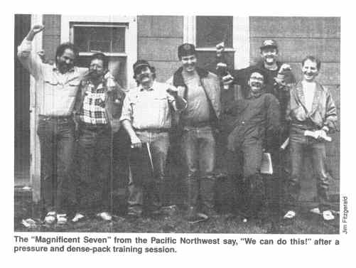 "The ""Magnificent Seven"" from the Pacific Northwest say, ""We can do this!"" after a pressure and dense-pack training session."